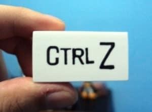 Ctrl + Z e Ctrl + Y