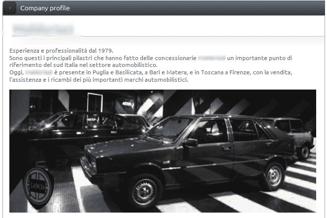 Maldarizzi auto - profile company