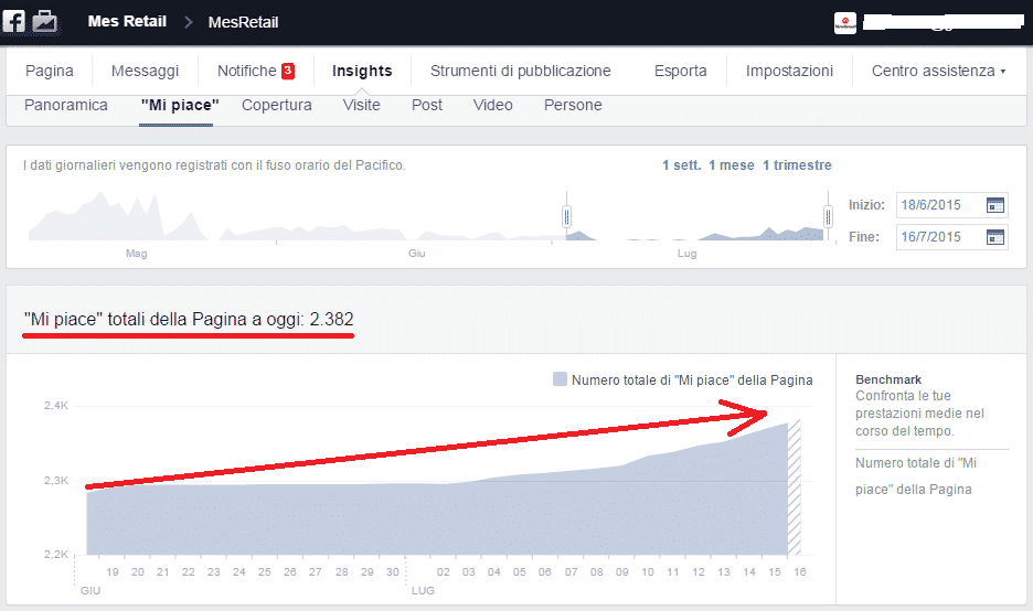 Gestione Facebook Mes Retail