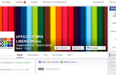Pagina Facebook Ufficio Tempo Libero Milano