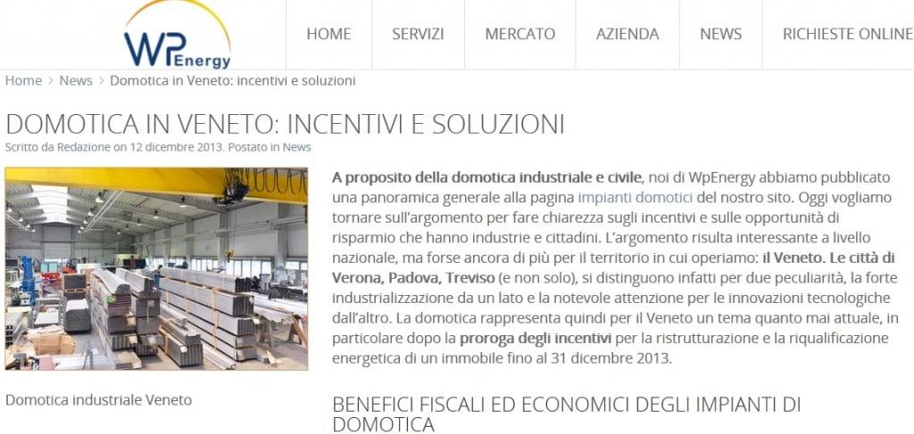 Articolo ottimizzato per domotica in Veneto